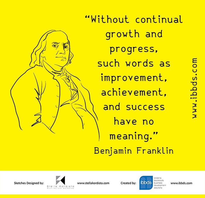 Inspirational Quotes, Benjamin Franklin, by ibbds