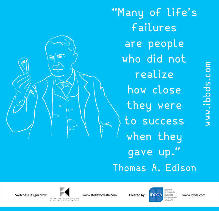 Inspirational Quotes, Thomas A. Edison, by ibbds