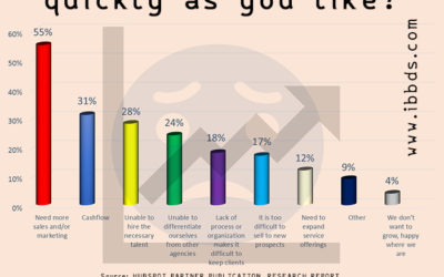 What is preventing your agency from growing as quickly as you like? Infographic by ibbds