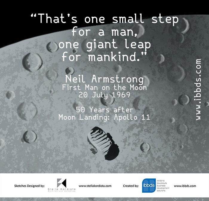 Inspirational Quotes, Neil Armstrong, First Man on the Moon, by ibbds